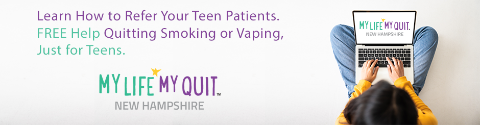 Learn how to refer your teen patients. Free help quitting smokng or vaping, just for teens. My Life, My Quit.